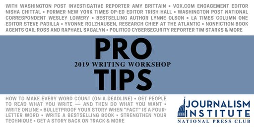 Pro Tips: Writing Workshop 2019