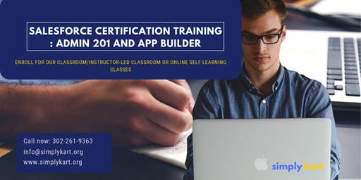 Salesforce Admin 201 & App Builder Certification Training in Sainte-Anne-de-Beaupré, PE