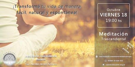 San Nicolás - Charla Informativa sobre Meditación Trascendental entradas