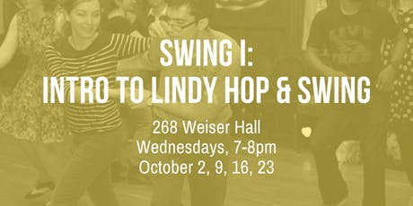 Swing I: Intro to Lindy Hop & Swing tickets