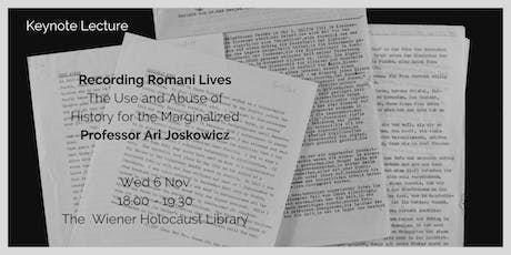 Keynote Lecture: Recording Romani Lives tickets