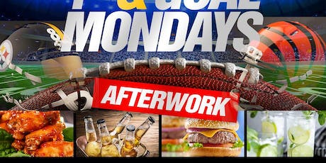 Monday Night Football Game Day 1st and goal mondays jimmys 38th nyc Bengals vs steelers #MargaritaMondays After Work Happy Hour Hosted by @Chase.Simms Simmsmovement tickets