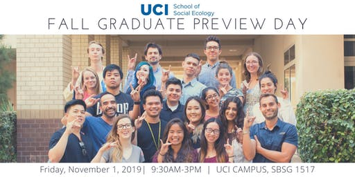 UCI School of Social Ecology Fall Preview Day