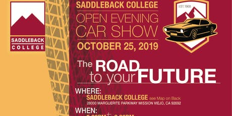Saddleback College 2nd annual Open House & Car show 25th October 2019 tickets