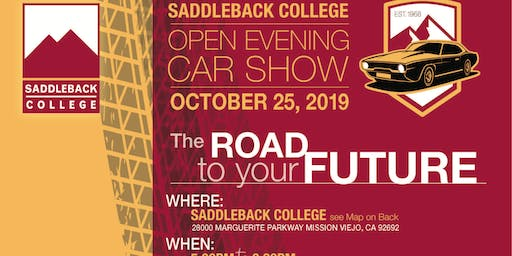 Saddleback College 2nd annual Open House & Car show 25th October 2019
