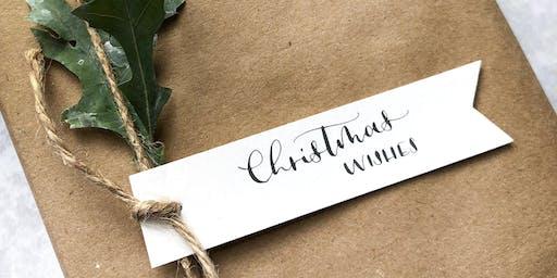 Modern Calligraphy: Christmas Gift Tags