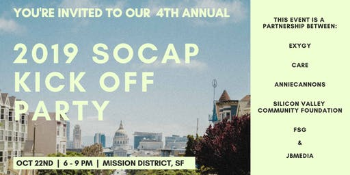 "SOCAP19 - ""Unofficial"" Kick Off Party"