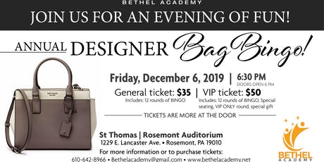 Designer Bag Bingo ! tickets