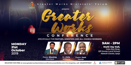 Greater Works Ministers' Conference tickets