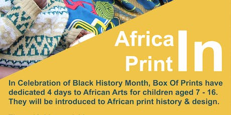Africa IN Print Fabric Dyeing tickets