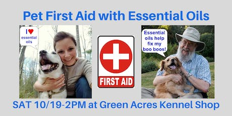 Pet First Aid with Essential Oils seminar tickets