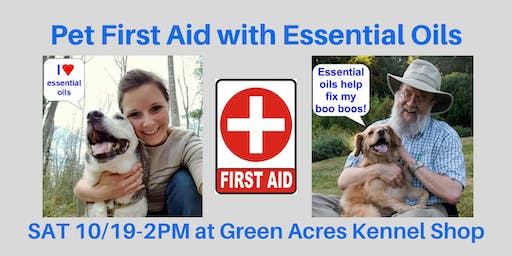 Pet First Aid with Essential Oils seminar