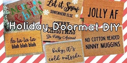 Holiday doormat DIY
