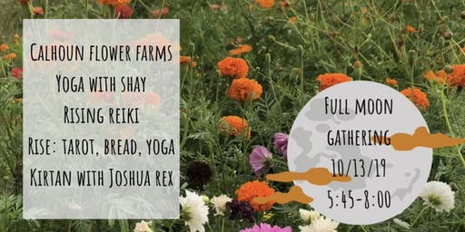 Full Moon Yoga at Calhoun Flower Farms