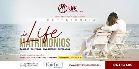 Cena Gratis - Conferencia de Matrimonio por LifeTheWoodlands.com EN ESPANOL boletos