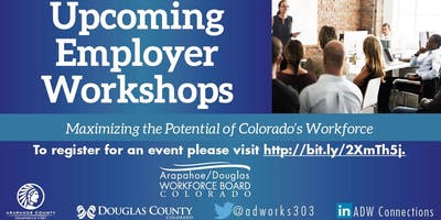 Employer Workshop Series for October 2019