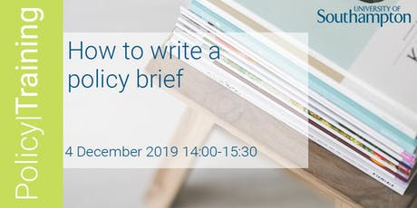 How to write a policy brief - Policy|Training Winter 2019 tickets
