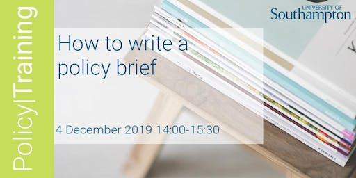 How to write a policy brief - Policy|Training Winter 2019