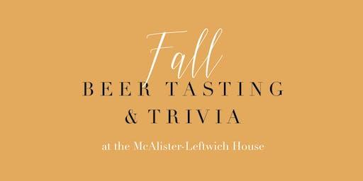 Fall Beer Tasting & Trivia Night