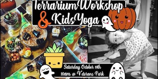 Halloween Terrarium and Kids Yoga