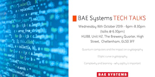 BAE Systems Tech Talks 16th October 2019