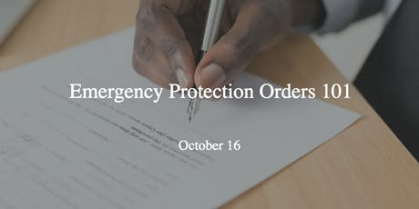 EFVC Presents: Emergency Protection Orders 101 tickets