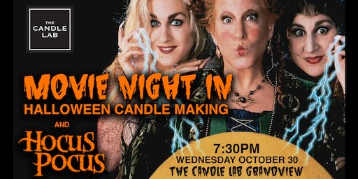 Movie Night - In: Halloween Candle-Making + Hocus Pocus
