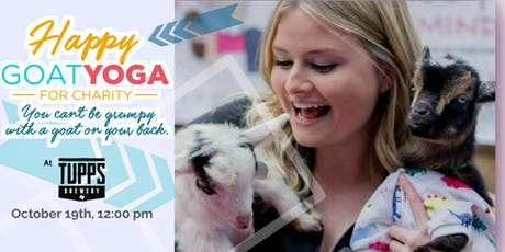 Happy Goat Yoga-For Charity at TUPPS Brewery tickets