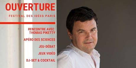 Soirée d'ouverture avec Thomas Piketty / #Festival des idées Paris billets