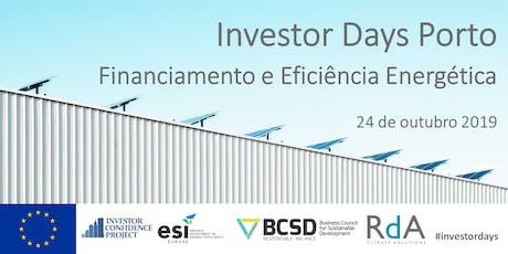 Investor Days bilhetes