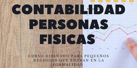 Contabilidad para personas físicas RIF, honorarios, arrendamiento, actividad empresarial entradas