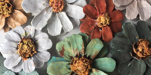 SOLD OUT Pine Cone Flower Workshop!