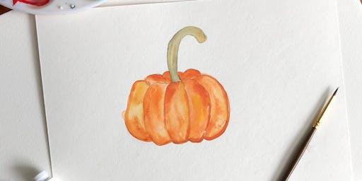Fall DIY Watercolor Workshop