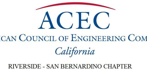ACEC RIV/SB Chapter November Luncheon Featuring David Thomas, PE, RCTC