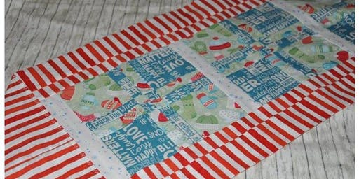 Disappearing 4-patch Table Runner w/Scarlett
