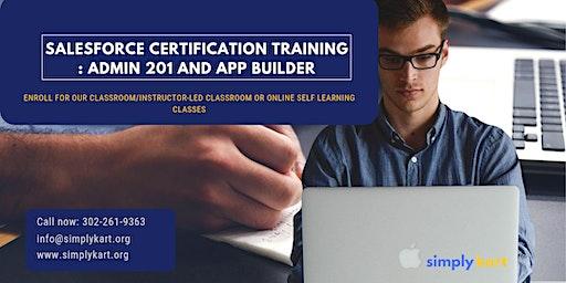 Salesforce Admin 201 & App Builder Certification Training in York Factory, MB