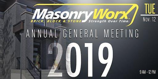 MasonryWorx Annual General Meeting 2019