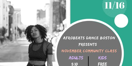 November Community Class 11/16/19 tickets