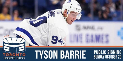 Tyson Barrie Signing at the Toronto Sports Expo