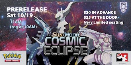 Pokemon Cosmic Eclipse Prerelease tickets