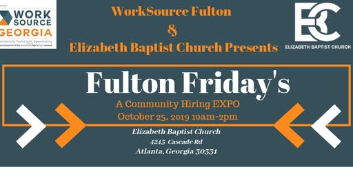 WorkSource Fulton Presents Fulton Friday's, A Community Hiring Event