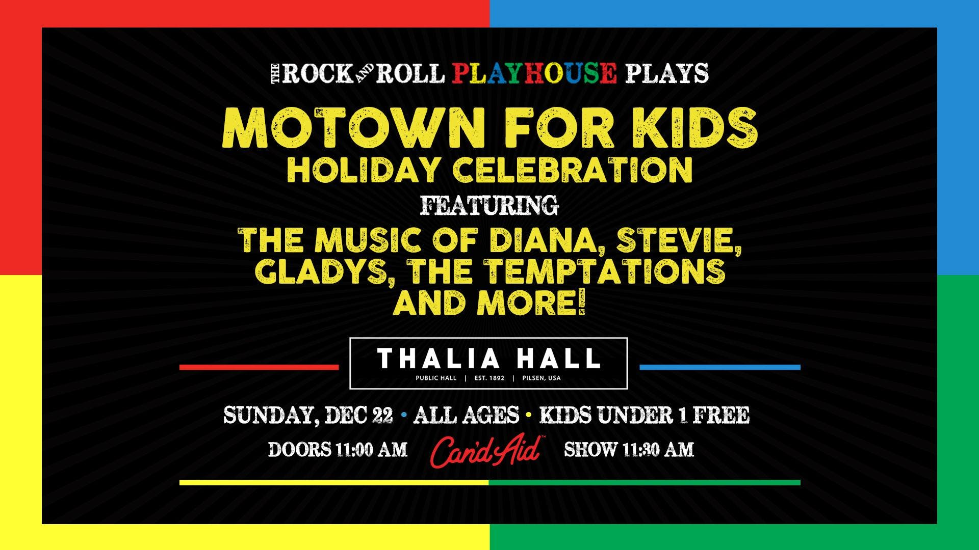 The Rock and Roll Playhouse presents The Motown for Kids Holiday Celebration