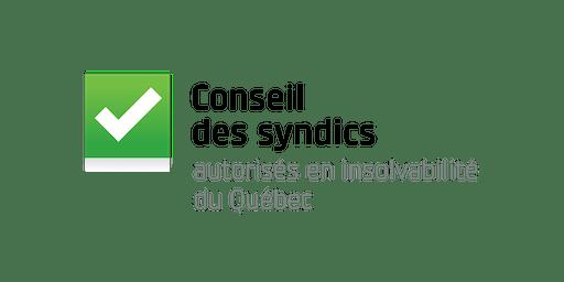 Colloque annuel du Conseil des syndics - Québec 12 Novembre 2019