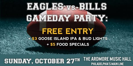 Eagles vs. Bills Party: Free Entry, Beer/Food Specials, Open Bar & More! tickets
