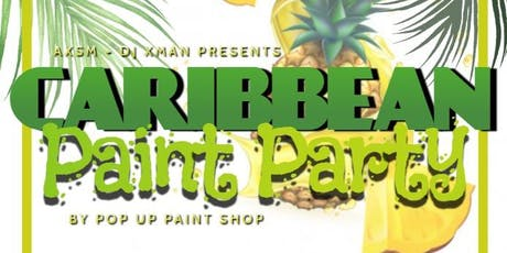 Caribbean Paint Night with Pop Up Paint Shop tickets