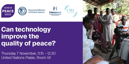 Can technology improve the quality of peace?