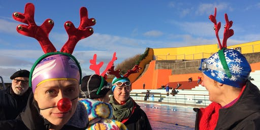 Portishead Popsicle 2019 - festive cold water swimming event