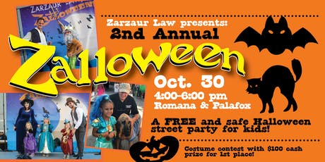 Zalloween!  A FREE Halloween Street Party For Kids. tickets