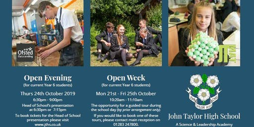 John Taylor High School Open Evening