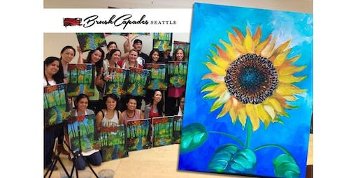 Learn to Paint Sunflower NEW! (2019-10-17 starts at 7:00 PM)